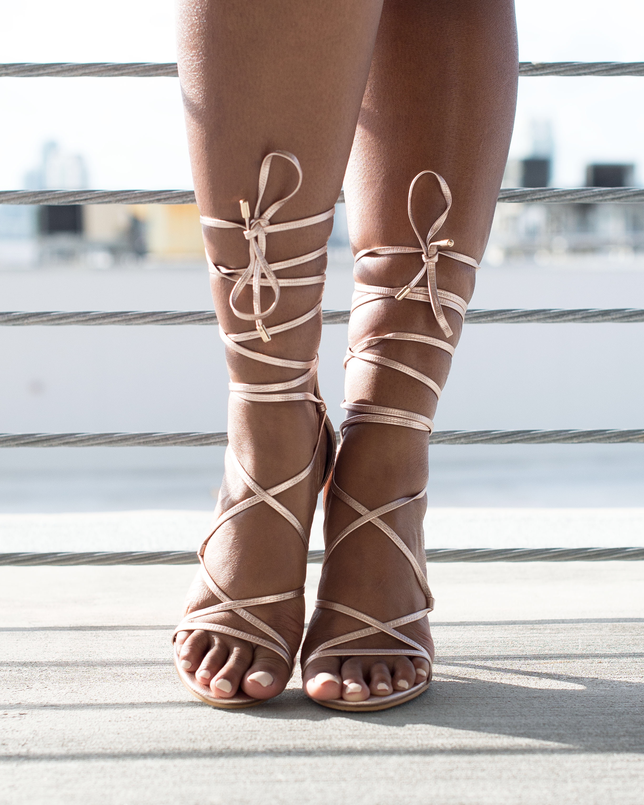 Rose Gold Lace Up Demi Simmi Shoes Heels