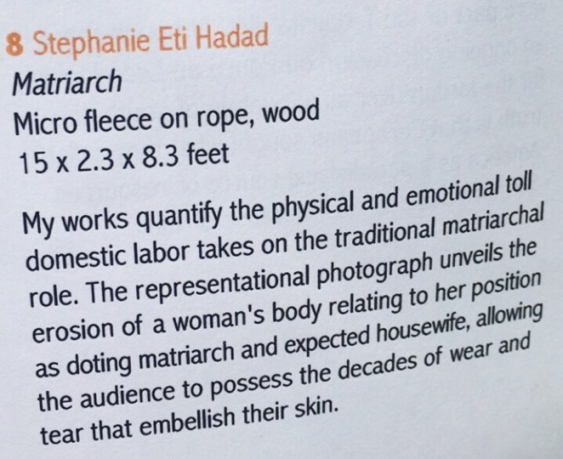"Explanation for art piece ""Matriarch"" by Stephanie Eti Hadad Shack 2017 at the New World School of the Arts showcase called ""Disruptions"""